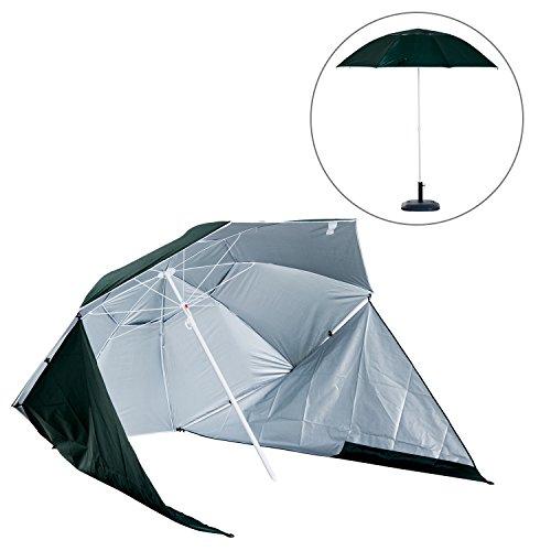 Outsunny Parasol abri Solaire ?2,1 x 2,22H cm Protection UPF 50 + Sac Transport fourni Vert foncé