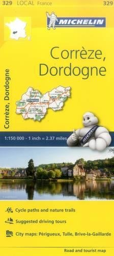 Correze, Dordogne - Michelin Local Map 329 (Mapas Local Michelin, Band 329) (Michelin Maps Deutschland)