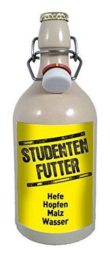 Studenten Futter 0,5 Liter Tonflasche Bier mit Bügelverschluss