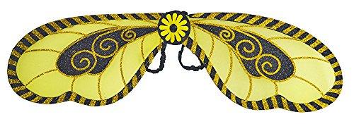 Das Kostümland XL Glitzer Flügel zum Bienenkostüm - 100 x 25 cm - Tolles Zubehör für Theater und ()