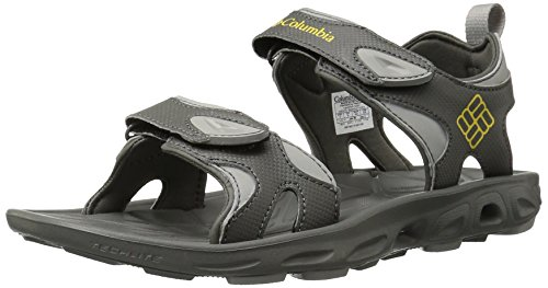 Columbia Techsun Vent, Scarpe sportive Uomo, Gris (030 Charcoal Yellow Curry), 43