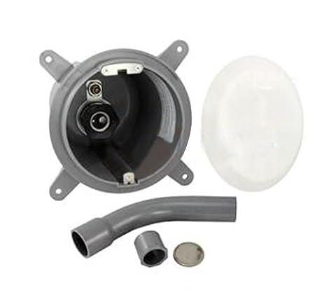Zodiac PLNICSM 1-Inch Rear Outlet Gunite Plastic Niche Replacement for