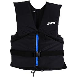 AWN Black Edition Veste de régate Gilet de flottable Aide à flottabilité Kayak Sup Planche à Voile (70-90 kg)