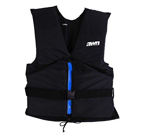 AWN Black Edition 50 N Regattaweste Sicherheitsweste Kajak Sup Windsurfen Kite Schwimmhilfe Feststoffweste (70-90 kg)