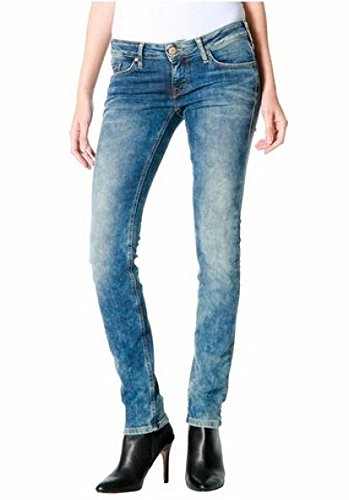 Mustang Damen Jeans Jeanshose Gina Skinny Low Rise Slim Leg (Green Cast, W27/L32) (Leg-jeans Low-rise-skinny)