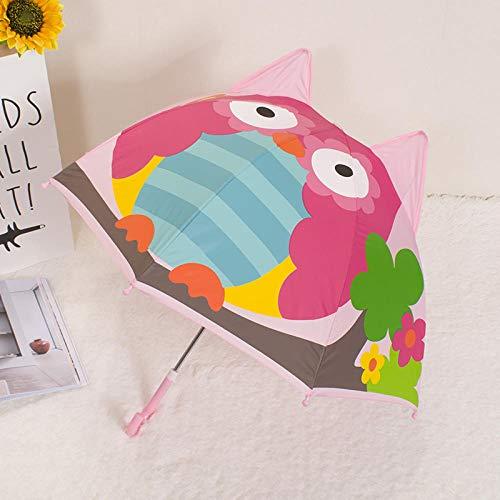 JIANG Mini Regenschirm Kinder Regenschirm Toy Dance Umbrella Baby Dekoration Kindergarten Sonnenschirm Männliche und weibliche Ananas Vogel groß, Eule groß