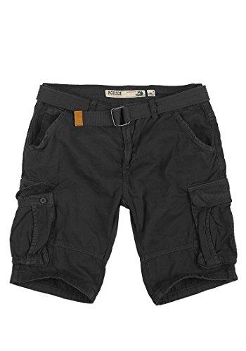 INDICODE Hamilton Herren Cargo-Shorts kurze Hose aus 100% Baumwolle Black (999)