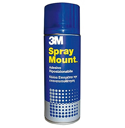 3M Adesivo Spray Mount/Bomboletta di Colla Spray, Trasparente, 400 ml