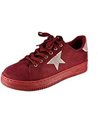 PICCOLI MONELLI Sneakers Donna Scarpe da Passeggio tg 41 Colore Rosso  Scamosciato con Lacci 2bfe1332c81