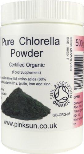 Chlorella-Pyrenoidosa-Powder-Organic-500g-Broken-Cell-Wall-Chlorella-Certified-Organic-by-the-Soil-Association-PINK-SUN