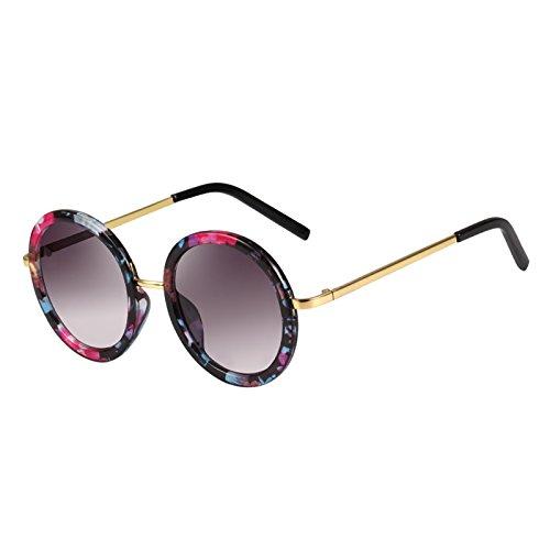 Sonnenbrille Mode Beliebte Frau Runde Sonnenbrille Anti-UV Bernstein Farbe ( farbe : Style B )