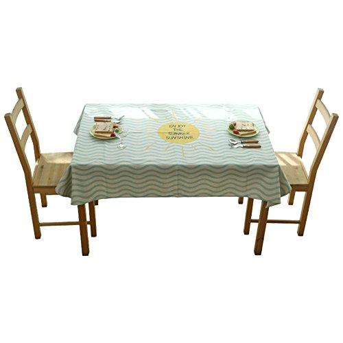 ZWL Nappe de Table à Manger, Nappe à Rayures Vertes Restaurant Nappe de Café Nappe Longue Petite Table Ronde Nappe Rurale Couverture Tissu Longueur 110-230cm , Ajoutez de la vitalité à la cuisine ( taille : 110*110cm )