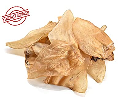 Dragonfly Products Cows Ears For Dogs Large 12 or 25 pieces EU Low Fat Natural Raw Healthy Treat Grade A Premium Whole Cow Ear Chew