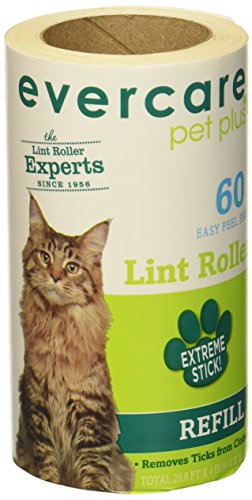 Refill Evercare Pet Roller Lint (Evercare Pet Hair Lint Roller Refills 6PACK (30.1 ft x 4 ea) by Evercare)