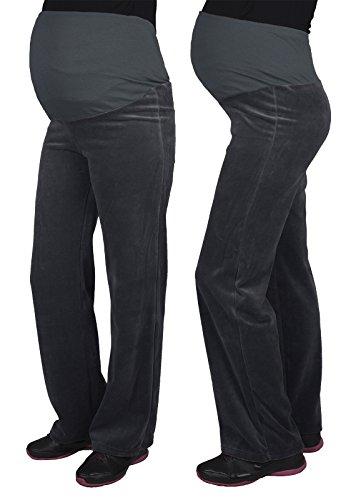 Mija - Pantalon de maternité décontracté et confortable Over Bump 3069 Graphite