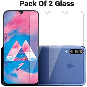 POPIO Tempered Glass Screen Protector for Samsung Galaxy M30S / M30 / A50S / A50 / A30S / A30 (Transparent) Full Screen Coverage (except edges) with Easy Installation Kit, Pack of 2