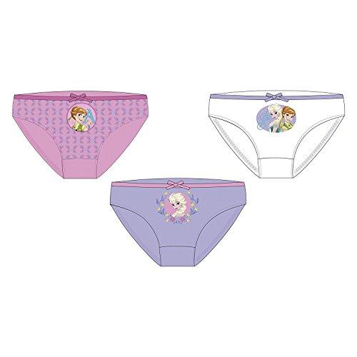 3er Set Frozen Slips 100% Baumwolle Unterwäsche Unterhosen Die Eiskönigin (Frozen 4-5 Jahre) (Größe Frozen-unterwäsche 5 Mädchen)