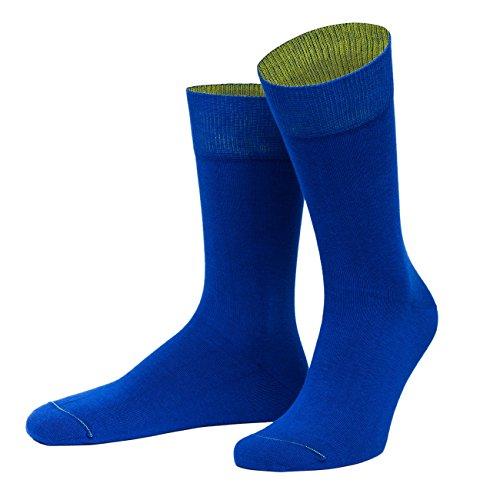 von Jungfeld - Herren Socken/Strumpf Herrensocken Baumwolle 1 Paar 42-44 dunkelblau