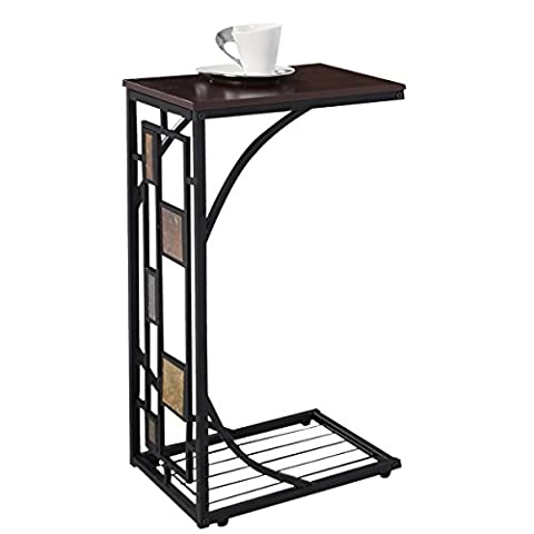 FDS Side Sofa End Table Coffee Laptop Tea Table Trolley Mobile Under Couch