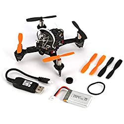 KNOSSOS F110S 200mW 40CH FPV Micro Racing Drone with R8FM Receiver BNF - Black
