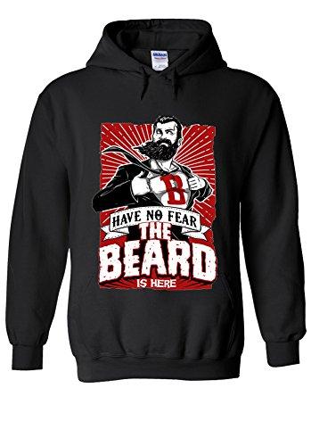 The Beard Is Here Have No Fear Superhero Novelty Black Men Women Damen Herren Unisex Hoodie Kapuzenpullover Verschiedene Farben-L