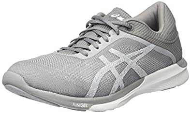 Asics Fuzex Rush Scarpe Running Donna Grigio White/Silver/Mid Grey 38