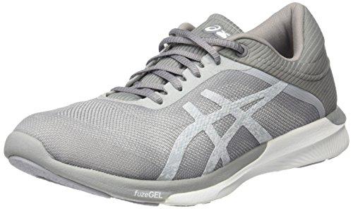 Asics Women's Fuzex Rush Running Shoes, Grey (White/Silver/Mid Grey), 7 UK 40.5...