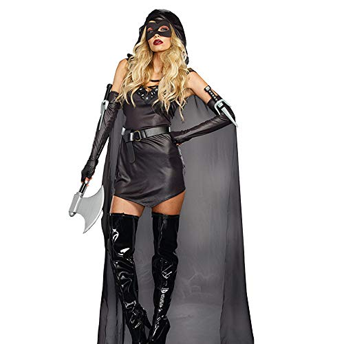 Home-soft Halloween Piraten Kostüm, Schwarzes Cosplay Set für Erwachsene und Kriegerinnen, Sexy Nightclub Assassin Game (Sexy Kostüm Assassin)