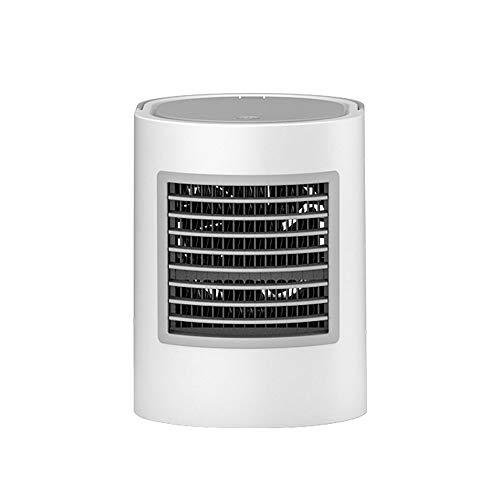 QTRT Lüfter mit Luftbefeuchter Saubere Luft Bunte Umwandlung Atmosphäre Leichtes Eis und Wasserkühlung, 3-fach einstellbarer Wasserkühler USB-Haushaltsklimaanlage Kleiner Ventilator Mini-Tischventilat