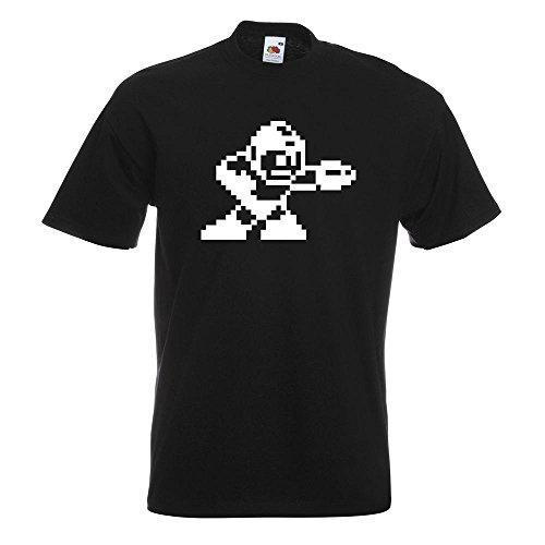 KIWISTAR - Megaman T-Shirt in 15 verschiedenen Farben - Herren Funshirt bedruckt Design Sprüche Spruch Motive Oberteil Baumwolle Print Größe S M L XL XXL Schwarz