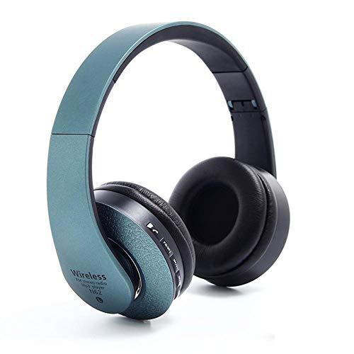 F.RUI N62 Funk Bluetooth Kopfhörer Faltbar Kopf Montiert Stereo Headset 10M Reichweite Geeignet für iPhone, iPad, iPod, MP3-Player, Handy, Tablet, etc