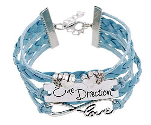 Mädchen Armband - Mädchenarmband - Unendliches Armband - Liebe - Love - One Direction - Blaue Farbe