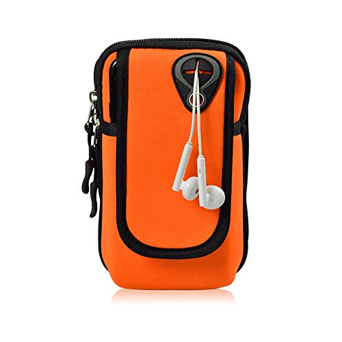 Weikeya Sportarmband, Handytasche für Lauftraining Fitness Kompatibel mit iPhone X 8 7 6 6s Plus 5 5S SE 4 Xiaomi1 / 2/3/4 (Color : Orange, Size : M) -