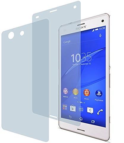 Sony Xperia Z3 Compact (2x VORNE, 2x HINTEN) PREMIUM Displayschutzfolie Bildschirmschutzfolie ANTIREFLEX - KRATZFEST UND PASSGENAU