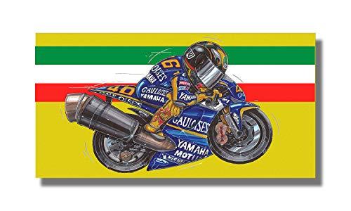 KOOLART Yamaha Moto GP Valentino Rossi Badetuch Strandtuch Duschtuch Strand Badehandtuch 140 x 70,-1828