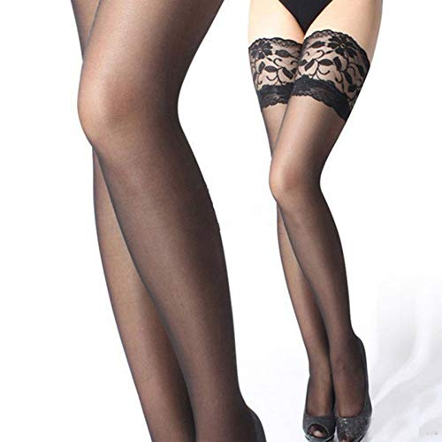 SUZNUO Weibliche Nylon Körper Sexy Strumpf Strumpfhosen Frauen Oberschenkel Hohe Strümpfe Fixieren Das Bein Dünne Spitze Lange Sexy Strümpfe Schlauch -
