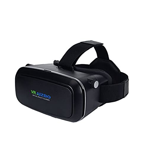 "Aizbo® 3D VR Virtual Reality Headset 3D VR Glasses For Samsung iPhone 4~6"" inch Smartphones for 3D Movies and Games, letting everyone enjoy an immersive 3D experience, Adjustable Strap"
