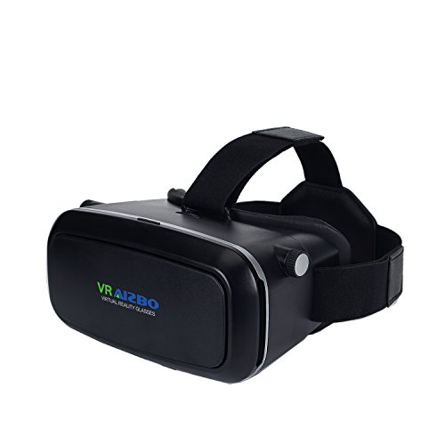 Aizbo 3D VR Virtual Reality Headset,3D VR Glasses- Black