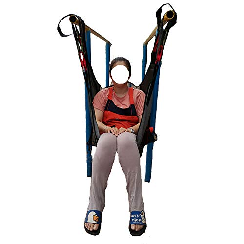 41Eu4y3aXFL - SHDT Cuerpo De Malla Completa con Orinal Elevación Paciente Honda, Transferencia De Manta para El Posicionamiento De Cama Y Levantamiento De Bariátrica, Enfermería, Ancianos, Discapacitados,A