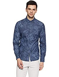 United Colors of Benetton Men's Printed Slim Fit Casual Shirt