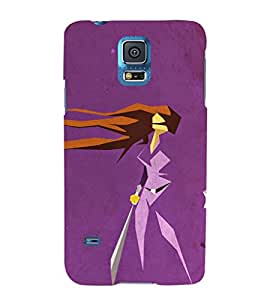 EPICCASE Girl With Sword Mobile Back Case Cover For Samsung Galaxy S5 (Designer Case)