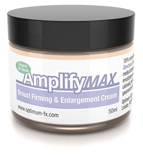 Amplify MAX Crema Reafirmante de Senos Mejorada Para 30 Días 11 Formas Para Lograr un Busto Más Firme y Lleno RÁPIDAMENTE Fabricada en el Reino Unido Natural y Orgánica 50ml