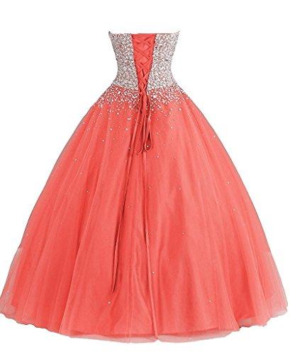 Promworld Damen A-Linie Kleid Violett Violett Korallenrot