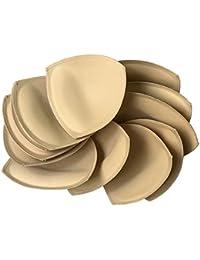 Fengyuan 6 pares Inserto de almohadilla de sujetador removible (beige) para sujetador deportivo y