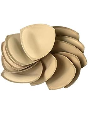 Fengyuan 6 pares Inserto de almohadilla de sujetador removible (beige) para sujetador deportivo y parte superior...