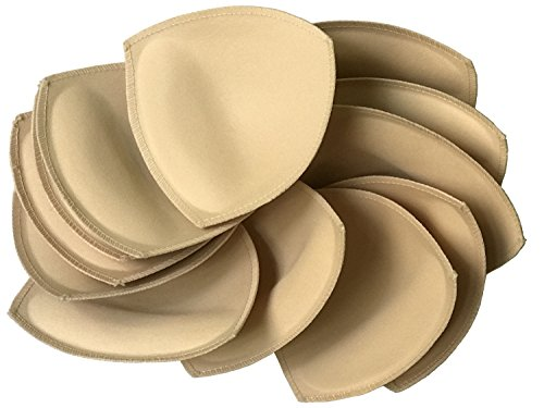 6 pairs Removeable bra pad insert ( beige) for sport bra and bikini tops