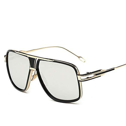 Fliegend occhiali da sole polarizzati donna uomo occhiali da sole vintage retrò con custodia unisex occhiali da sole uv400 con montatura in metallo lente specchiata ultraleggero
