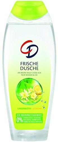 CD Frische Dusche Lindenblüte & Zitrone 250 ml  / Duschgel für empfindliche Haut geeignet im 6er Vorratspack (6 x 250 ml)
