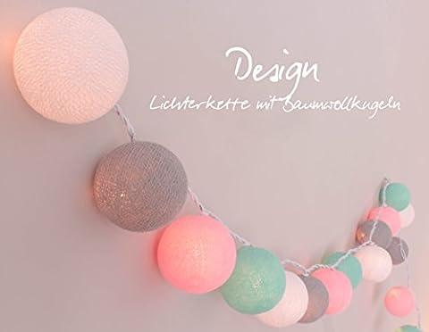 Lichterkette 'Babyzimmer' mit 20 Kugeln aus Baumwolle - Cotton Ball