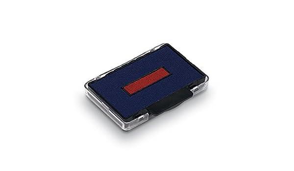 5460//L und 5465 Trodat 6//56//2 Stempelkissen Austauschkissen Ersatzkissen Trodat Professional Stempel 5460 2er-Pack zweifarbig blau-rot